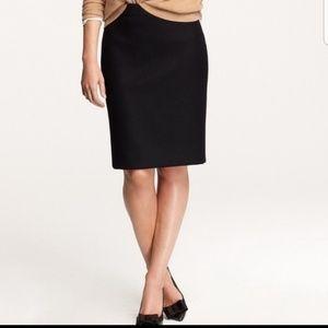 J. Crew The Pencil Skirt Black Size 6